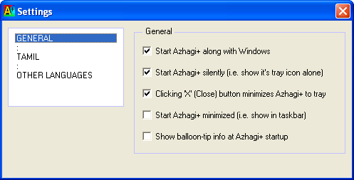 How to auto-start Azhagi+ along with Windows?